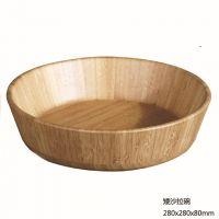 供应楠竹碗 矮沙拉碗 出口环保楠竹工艺碗  符合欧盟标准