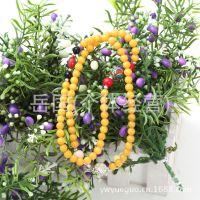 天然春色新款 泰国原石串珠 福佑 异域风情手工多层黄色珠链
