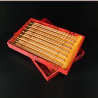 仙游红木工艺品木雕红豆杉筷子套装八双木质餐具用品摆件