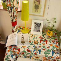 全棉双经双纬活性环保印花彩马帆布,高档餐桌全棉布艺,现货批发