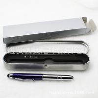 厂家新款带激光手写笔 iPhone触屏笔 手机点触笔圆珠笔电容笔