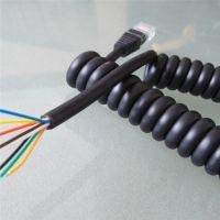 医疗 安防 电气设备专用弹簧线 PU卷线 TPU螺旋线 曲线加工 生产厂家