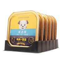 浦力顿狗罐头鸡肉蔬菜100g *6盒狗湿粮 泰迪金毛宠物狗狗零食