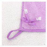 厨房抹布蝴蝶结蕾丝擦手巾 可爱双面珊瑚绒包边加厚扇形擦手巾