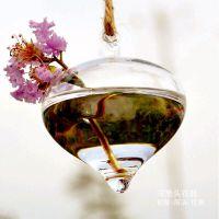 创意洋葱头透明悬挂式玻璃花瓶 田园家居挂件水培植物吊瓶