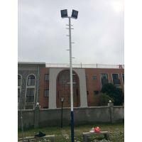 广西名扬硅PU篮球球场灯柱施工安装