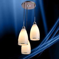 led玻璃餐吊灯三头创意艺术餐厅灯具现代简约吧台灯时尚饭厅灯饰