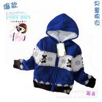 爆款韩版童外套蓝色PP熊羊羔绒儿童棉服3-8岁男童XS11-120