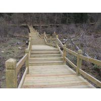 园林景观亲水平台-木栈道施工
