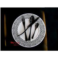 卡雅kaya 优质不锈钢刀叉 黑色电镀 精美高档礼品套装 揭阳餐具厂