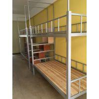 厂家直销港文时尚现代学生上下铺床|4人位连体铁床|上下铺中间商梯子宿舍床