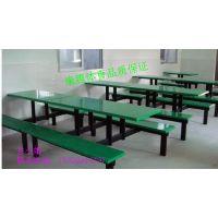 饭堂员工专用玻璃钢餐桌椅安装 康腾体育厂家热销l六人位长条凳餐桌质量保证 易保养批发价
