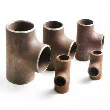 供应DN150*6合金钢单筋加强焊三通厂家