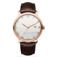 厂家定制正品简约时尚罗马字表盘钢壳全自动机械手表经典款热销爆款 速卖通