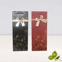 纸袋 高档烫金红酒袋喜庆礼品包装盒批发 婚庆回礼手提礼物可定制