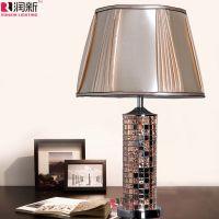 新品古典创意马赛克玻璃台灯卧室温馨照明灯具 客厅装饰灯RT1068