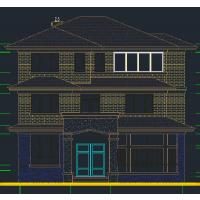 别致美观带地下室独栋二层半新农村住宅设计图12x12.7米