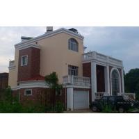 简约大气三层带车库东南亚风格房屋建筑图14.5x13.8米