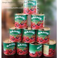 工厂专业生产出口听装番茄酱罐头70g 210g 400g 800g