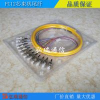 12芯束状尾纤SC方头FC圆头单模光纤跳纤电信级可订做ST/LC工厂