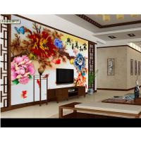 3D彩雕瓷砖背景墙打印效果 理光平板打印机厂家