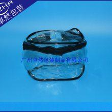 热压手提包骨拉链透明pvc防水礼品塑料包装袋出口6cpvc标准可印刷