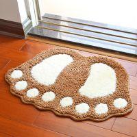 Lovely flocking feet mats doormat bath mat bathroom mat gray red carpet��