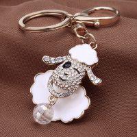 韩国钥匙扣羊年新款钥匙挂件钥匙圈女士创意喜羊羊钥匙链可爱饰品