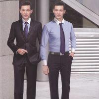 高端商务新款职业男装修身版西服套装单排一粒扣设计厂家定做男装