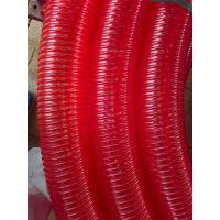红色加厚抽沙管加厚吸粮机软管耐用阳谷四通塑胶2——8寸四季柔软厂家直销