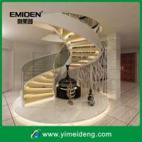 供应室内阁楼钢木旋转楼梯YMD-1022