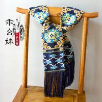 手工编织围巾 民族织锦围巾 西兰卡普现代手工织品 民族风围脖
