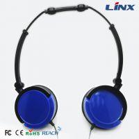 供应LX-125电脑耳机带麦克风 可全方位折叠电脑耳机带麦克风