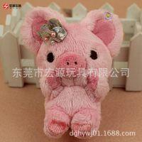 外贸原单zhu挂件猪 10CM爸妈猪毛绒公仔粉红猪小妹儿生日礼物订制