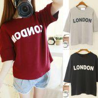 2015夏装新款韩版女装宽松圆领字母短袖打底衫学生姐妹装T恤