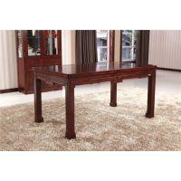 餐厅系列实木家具 纯实木餐桌 采用传统卯榫结构 环保耐用