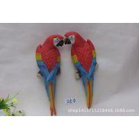 批发工艺品批发 家居墙壁挂件 欧式树脂/仿真动物鹦鹉(250)