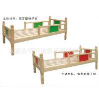 儿童床幼儿园专用床原木单人床