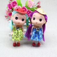 韩版丝绸帽子迷糊娃娃 手机钥匙挂件批发