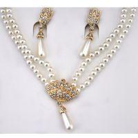 爆款新款新娘饰品珍珠首饰无耳洞耳夹1361-135(2色)