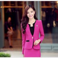 韩版女款职业西装套装套裙美容院酒店经理工作服修身职业装批发