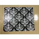 Non Toxic Antistatic Black Chair Floor Mats , Durable Folding Carpeted Chair Mat