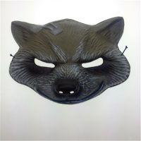 A超级英雄-火箭浣熊Rocket Raccoon Mask 柯式印刷吸塑狼头PVC面具