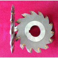 厂家生产开V槽 角度槽 平槽 焊接钨钢合金三面刃锯片铣刀!