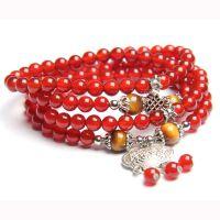 天然玛瑙手链红玛瑙佛珠手链 辟邪转运本命年礼物天然水晶批发