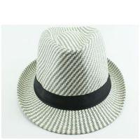 外贸出口 夏日遮阳情侣定型爵士帽 卷边草编绅士帽 时尚表演礼帽