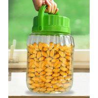 厂家直销3.5L加厚圆形密封收纳罐 透明零食干货杂粮储物罐 塑料