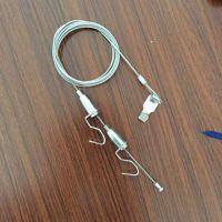双钩挂画器 不锈钢丝绳 画廊吊钩