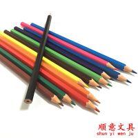 顺手12色 24色六角杆环保 hb彩铅 学专用绘图塑料铅笔 可做广告定制