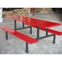 康腾十年厂家 食堂餐桌椅 学生餐桌椅 工厂饭堂玻璃钢连体桌椅
